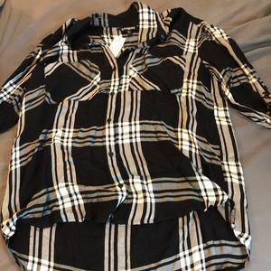 BNWT express flannel shirt